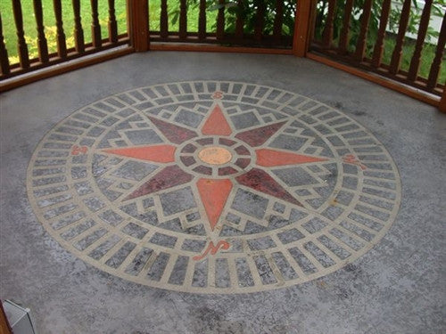 Expressions Ltd Concrete Paper Stencil Pattern Compass Star Circle Accent Expressions Ltd