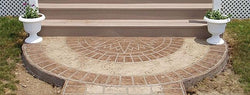 Concrete Stencil Accent - Compass Star Circle