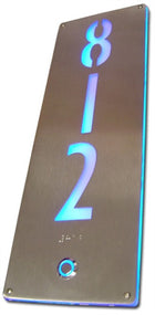 Room Number Backlit Custom Signage