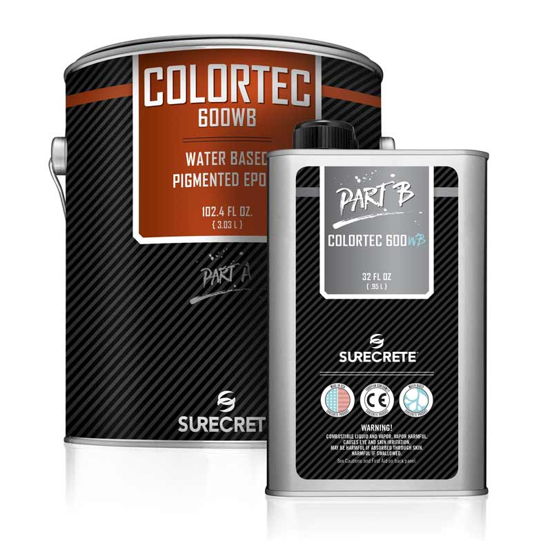 Water-Based Epoxy and Primer, Surecrete Pigmentable ColorTec DK 600WB