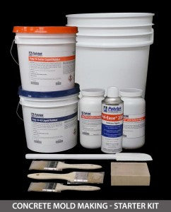 Concrete Rubber Mold Making Starter Kit