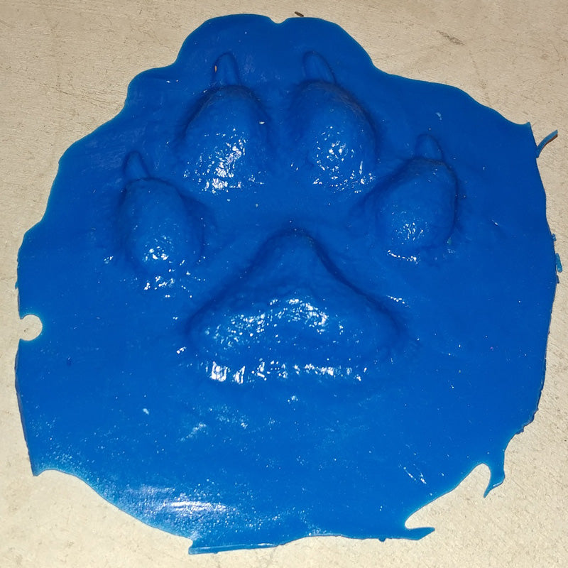 Animal Print Rubber Mold Stamp for Concrete - Wolf Track