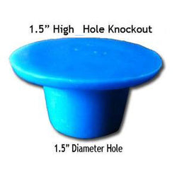Bathroom Drain Hole Knockout, Reusable Rubber Plug