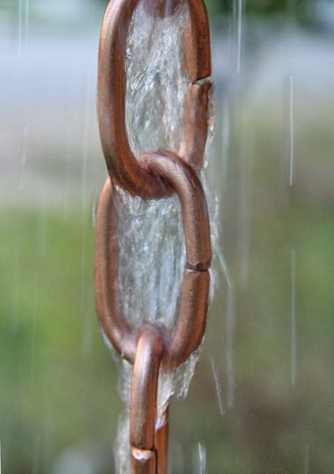 Rain Chain Copper Traditional Large Link
