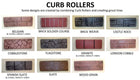 Concrete Curb & Border Stamp Rollers - 11 Pack