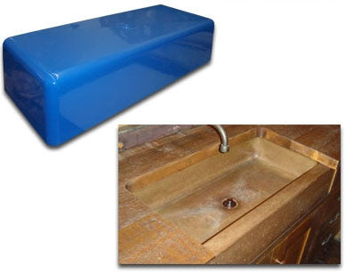 Concrete Countertop Sink Mold, Farm Lav 32-Inch