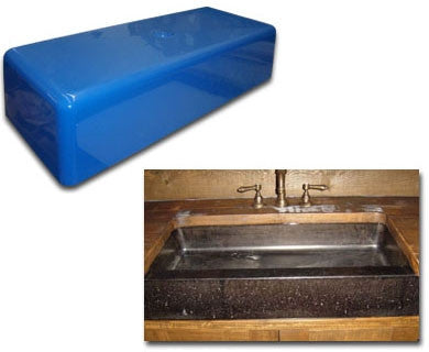 Concrete Countertop Sink Mold, Farm Lav 34-Inch