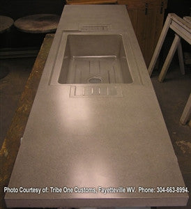 Concrete Countertop RUBBER Sink Mold, SDP-12 Farm 32""
