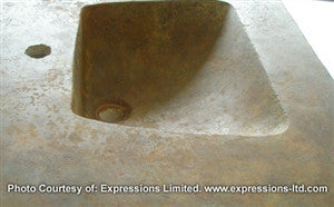 Concrete Countertop RUBBER Sink Mold, SDP-13 Scoop