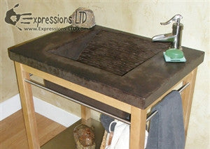 Concrete Countertop RUBBER Sink Mold, SDP-17 Mesa Ramp