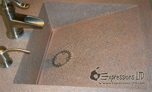 Concrete Countertop RUBBER Sink Mold, SDP-2 Wedge Ramp