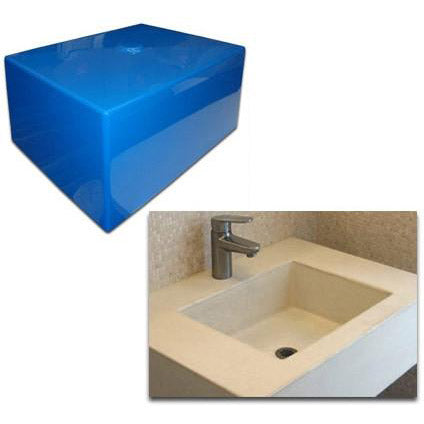 Concrete Countertop RUBBER Sink Mold, SDP-21 Rectangle 17""