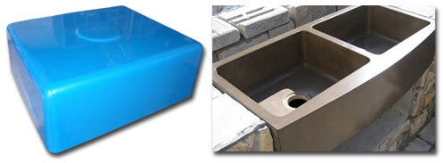 Expressions LTD Concrete Countertop Rubber Sink Mold, Rectangle 18 ...