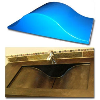 Expressions LTD Concrete Countertop Fiberglass Sink Mold, Wave Slot ...