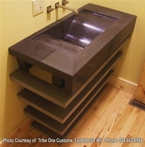 Concrete Countertop Sink Mold, DB26- Wave Slot Drain