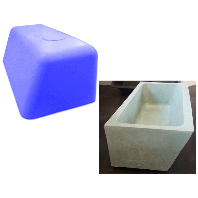 Concrete Countertop RUBBER Sink Mold, SDP32- Sloped Farm 30""
