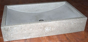 Concrete Countertop RUBBER Sink Mold, SDP-37 Shallow Wave
