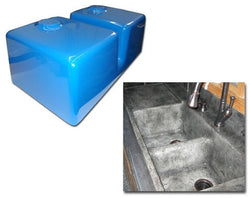 Concrete Countertop Sink Mold, Double Kitchen Basin