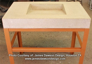Concrete Countertop Sink Mold, SDP-44 Ramp Shallow