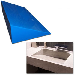 Concrete Countertop Sink Mold, Ramp 24-Inch