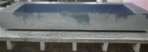 Concrete Countertop RUBBER Sink Mold, SDP9- Wedge Ramp 48""