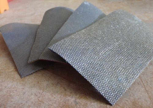 Diamond Sanding Strips, Velcro Backed