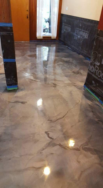Surecrete 3d Metallic Epoxy Floor System Pearl Mix In