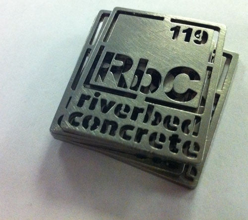 Stainless Steel Concrete Custom Logos