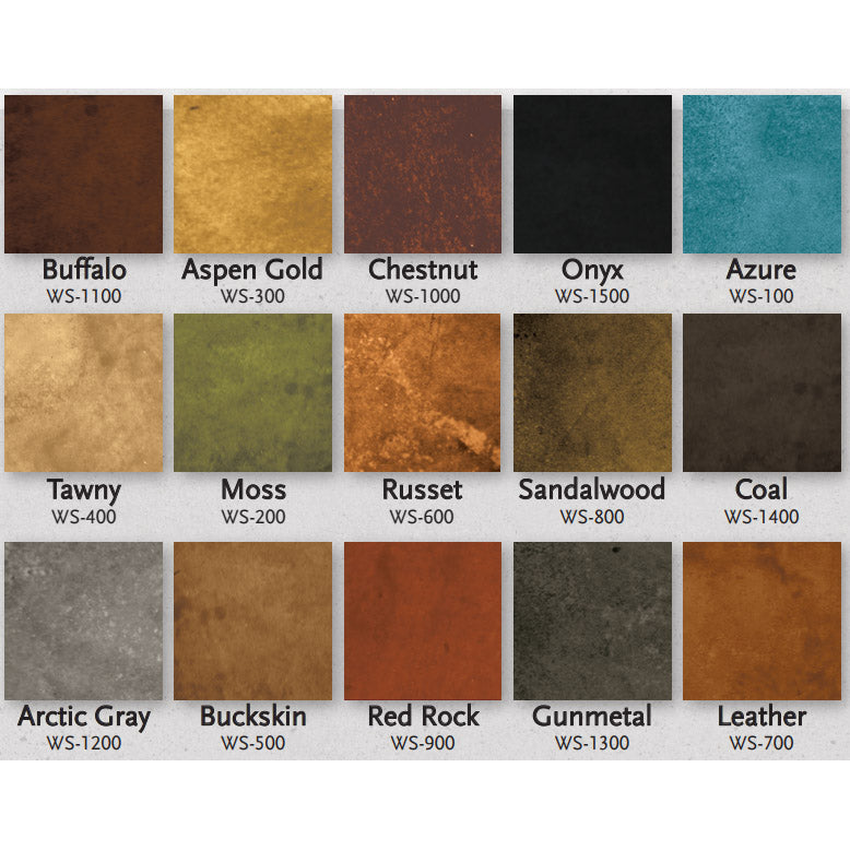 Concrete Water Based Stain- Living Earth 4oz Samples