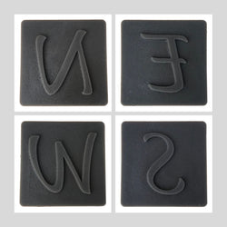 Concrete Accent Stamp - N E S W (North, East, South, West)