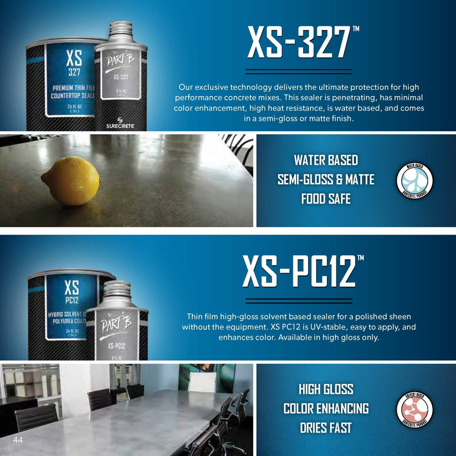 Best Concrete Countertop Sealer - XS-327 (with Anti Microbial option)
