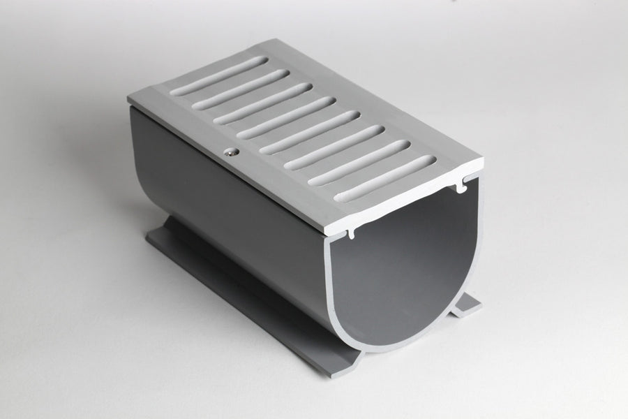 "Linear Drain for Pool Decks and Driveways - The 3"" Water Hog"