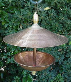 Zen Copper and Brass Open Easy Fill Birdfeeder, Large