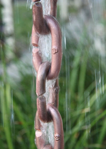 Rain Chain Cast Copper Links