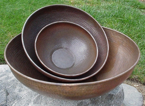 Hand Hammered Copper Basins