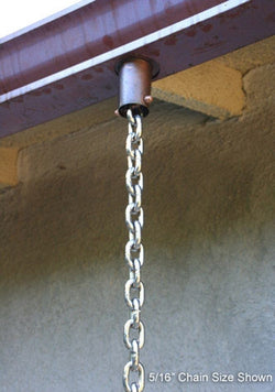 Rain Chain Stainless 1/4-Inch Link
