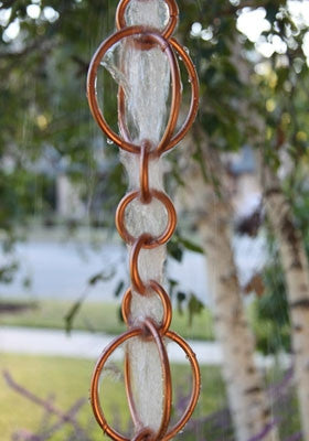 Rain Chain Circles - Copper