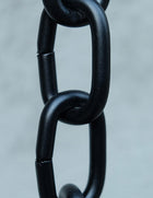 Rain Chain Large Aluminum Link in Black