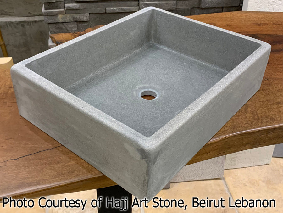 "Concrete Countertop Sink Mold, SDP-21-D Rectangle Shallow (@17""x13""x4"")"