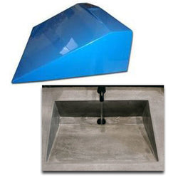 "Concrete Countertop RUBBER Sink Mold - SDP-29 Traditional Ramp (20""x14""x6"")"