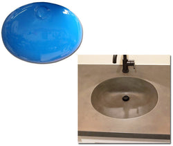 Concrete Countertop RUBBER Sink Mold, SDP-43 Oval Large