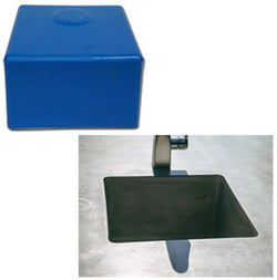 "Concrete Countertop RUBBER Sink Mold, SDP-53 14"" Square Prep Bar"