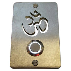 Stainless Steel Om Buddhist Doorbell