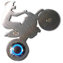 Stainless Steel Motocross Dirtbike Doorbell