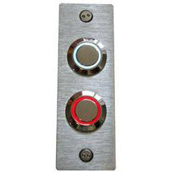 Stainless Steel Narrow Double Doorbell