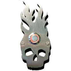 Stainless Steel Skull with Flames Doorbell