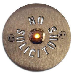 Stainless Steel Round NO SOLICITORS Around Doorbell