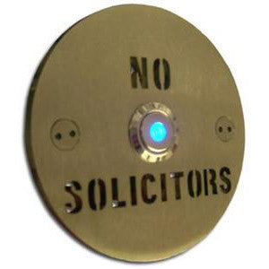 Stainless Steel NO SOLICITORS Round Doorbell