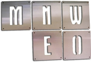Stainless Steel Numbers and Letters
