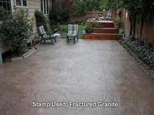 Concrete Seamless Stamp Mat - Fractured Granite